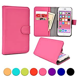 Oppo Find 5 Mini, Joy/Plus/3, Neo/3/5/5s/5 2015 phone case, COOPER SLIDER Mobile Cell Phone Wallet Protective Case Cover Casing with Open Camera & Credit Card Holder (Hot Pink)