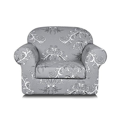 TIKAMI 2-Piece Spandex Printed Fit Stretch Sofa Slipcovers (Chair, ()