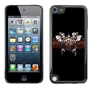 Be Good Phone Accessory // Dura Cáscara cubierta Protectora Caso Carcasa Funda de Protección para Apple iPod Touch 5 // Warrior Shield & Ace