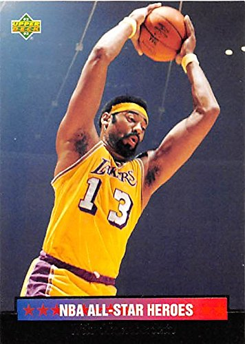 Wilt Chamberlain basketball card (Los Angeles Lakers) 1993 Upper Deck All Star Heroes #3