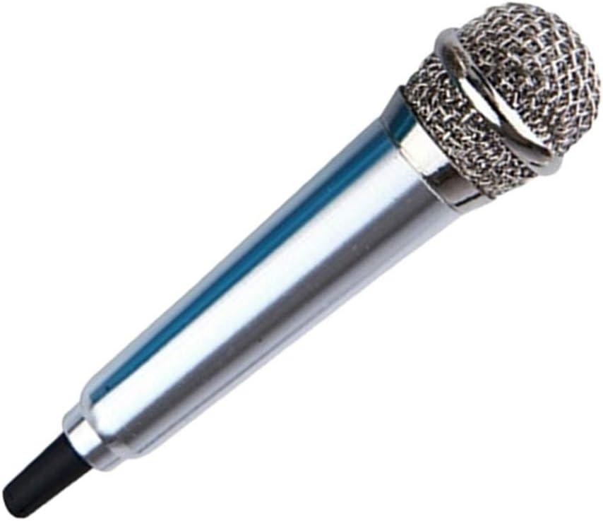 2pcs, Rose gold 3.5mm Stereo Studio Portable Mini Speech Mic Audio Microphone Smart Phone Laptop PC Desktop Accessories