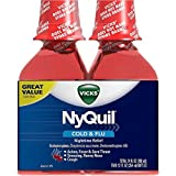 Vicks 44 Nyquil Cold and Flu Relief Liquid, Cherry, 24 Ounce (Pack of 6)