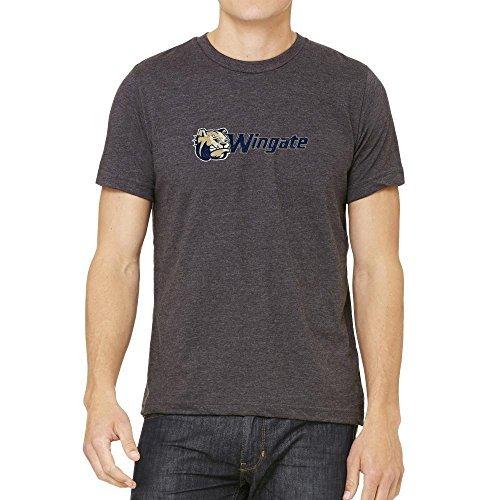 NCAA Wingate University Bulldogs Distressed Logo Shirt, Large (Wingate Bulldogs compare prices)