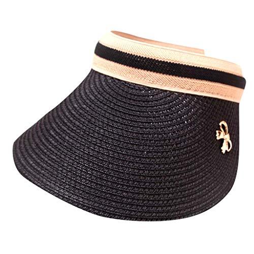 CapsA Sun Visors for Women and Girls Embroidered Flower Denim Cap Fashion Baseball Cap Topee Long Brim Hats