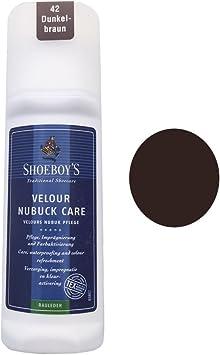 Shoeboys - Tinte de Piel de Ante marrón Oscuro. Resistente ...