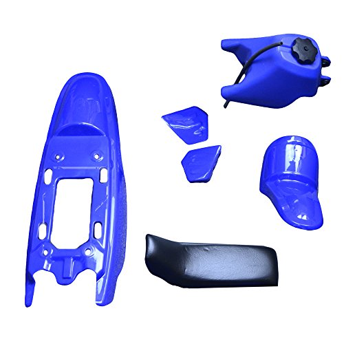 FLYPIG Plastic Fender Body Seat Gas Tank Kit for Yamaha PW50 PW 50 Blue -