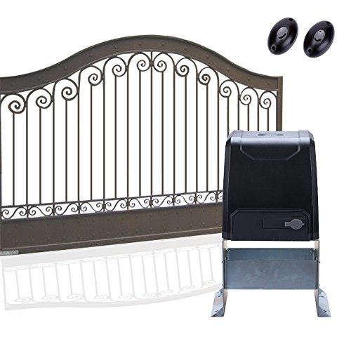 (G.T.Master Sliding Gate Opener - Automatic Driveway Security Door Operator Hardware Kit with Two Remotes Control and Infrared Photocell Sensor for Sliding Gates up to 2200lb and 40ft Long (GT2200))