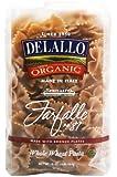 DeLallo Organic Whole Wheat Farfalle #87, 16-Ounce Units (Pack of 16)