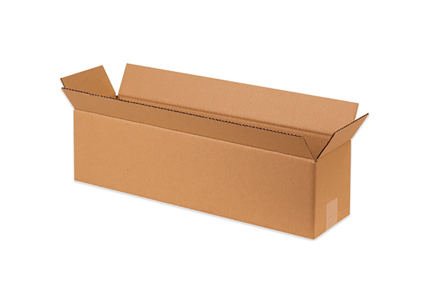 RetailSource B480404CB25 Corrugated Box, 4'' Height, 4'' Width, 48'' Length, Brown (Pack of 25)
