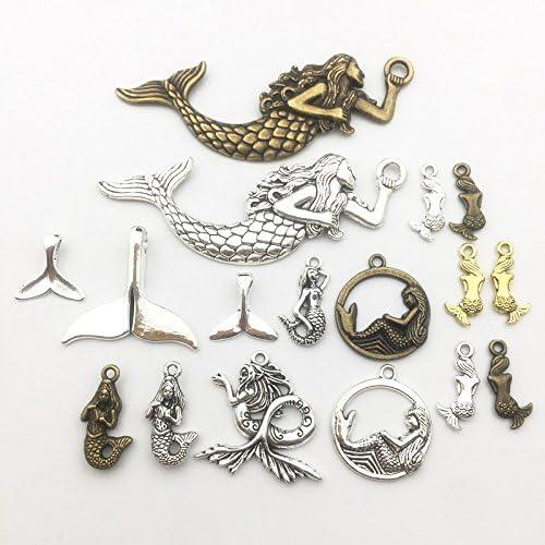 pulseras abalorios de metal liso 30 unidades de abalorios surtidos esmaltados para hacer joyas para hacer collares joyas y manualidades a