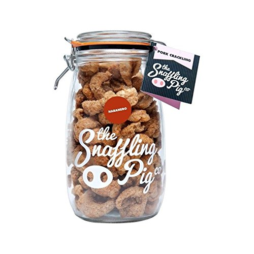 Snaffling Pig Habanero Chilli Pork Crackling Gifting Jar 1.5L - Pack of 6 by Snaffling Pig