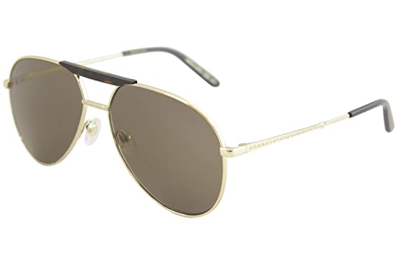 0fbe2164ba8 Image Unavailable. Image not available for. Color  Gucci Brown Aviator  Sunglasses ...