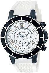 a_line Women's AL-20100DV Marina Chronograph White Dial White Silicone Watch