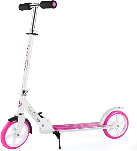 BELEEV Scooters for Kids 8 Years and up, Foldable Kick Scooter 2 Wheel, Quick-Release Folding System, 3 Adjustable Height, Large 200mm Wheels Great Scooters for Adults and Teens