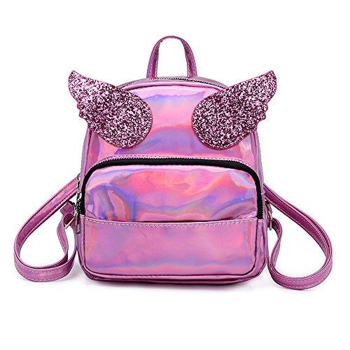 JJLIKER Women Wings Backpack Laser Rucksack Satchels Mini Bags Fashion Casual Waterproof Handbags
