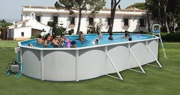 TOI - Piscina MALLORCA OVALADA 640x366x120 cm Filtro 3,6 m³/h: Amazon.es: Juguetes y juegos