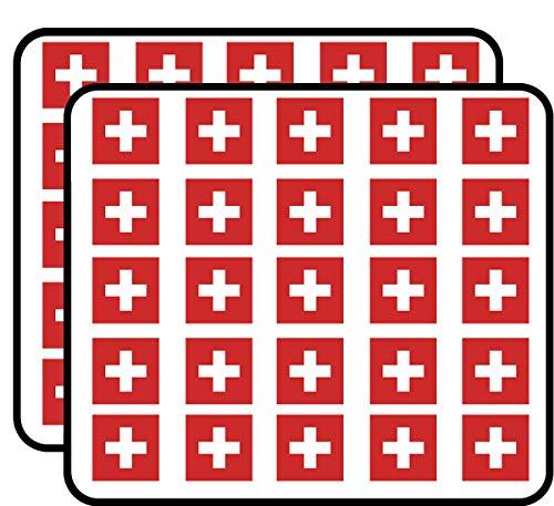 Switzerland Flag (Swiss Red Cross) Sticker for Scrapbooking, Calendars, Arts, Kids DIY Crafts, Album, Bullet Journals