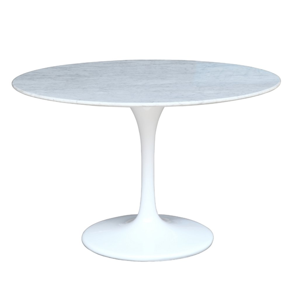 FineMod Fine Mod Imports Flower Marble Table 32'', White
