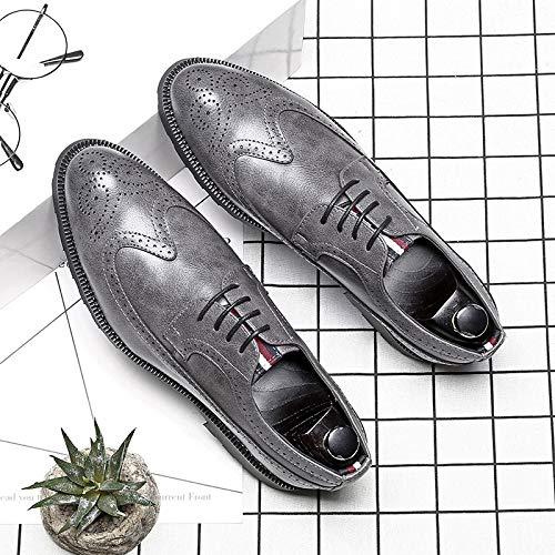 40 Uomo Gray Nero EU Style Punk Stivali Nero gwqpX6Pf