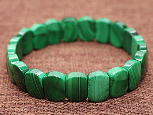 AmorWing Semi Precious Stones Malachite Prayer Mala Bracelet for Women Girls