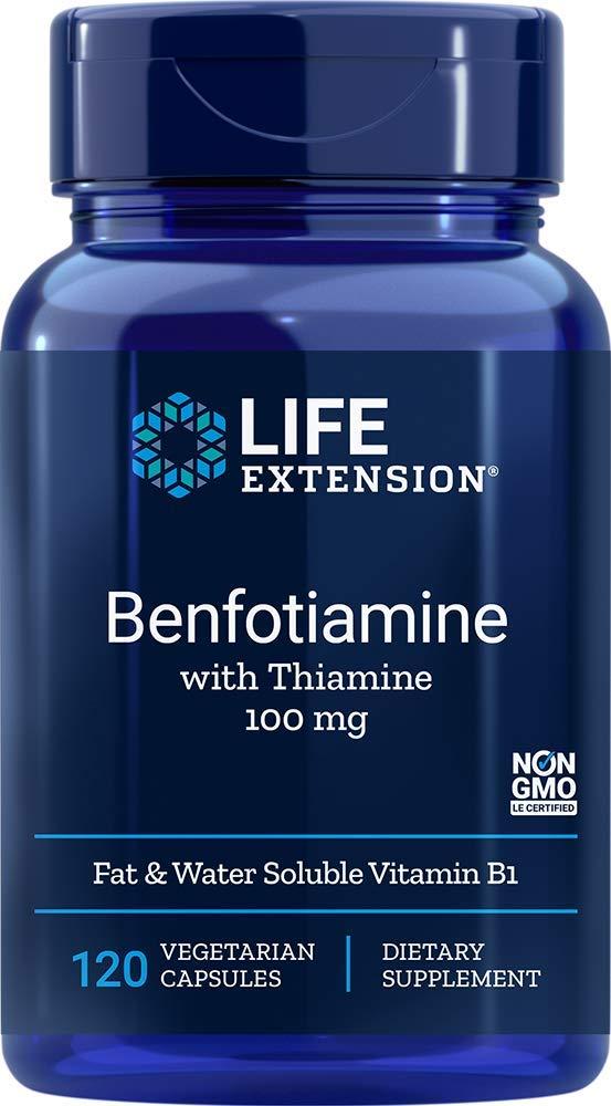 Life Extension Benfotiamine with Thiamine 120 Vegetarian Capsules