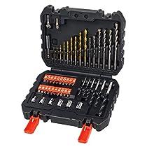Ahorra en Black and Decker A7188 - Pack de 50 piezas para atornillar y taladrar, color negro y naranja y más
