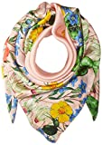 Echo Women's Garden Party Silk Square Scarf, Cambon Coral, One Size