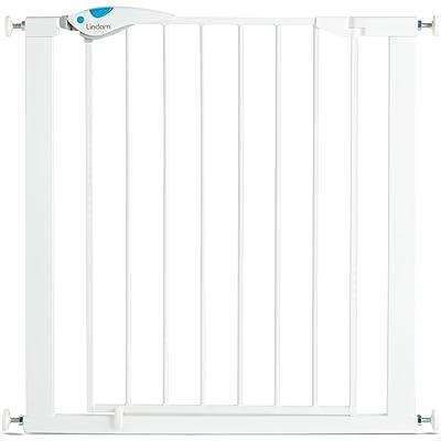 Lindam Easy Fit Plus Deluxe - Barrera de Seguridad, Blanco, 76-82 cm