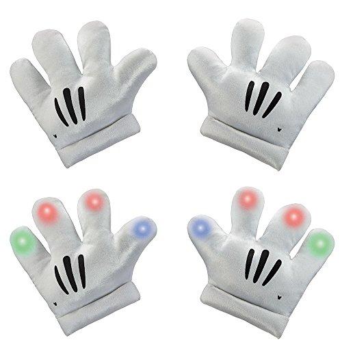 Light Up Child Mickey Mouse Disney Child Gloves