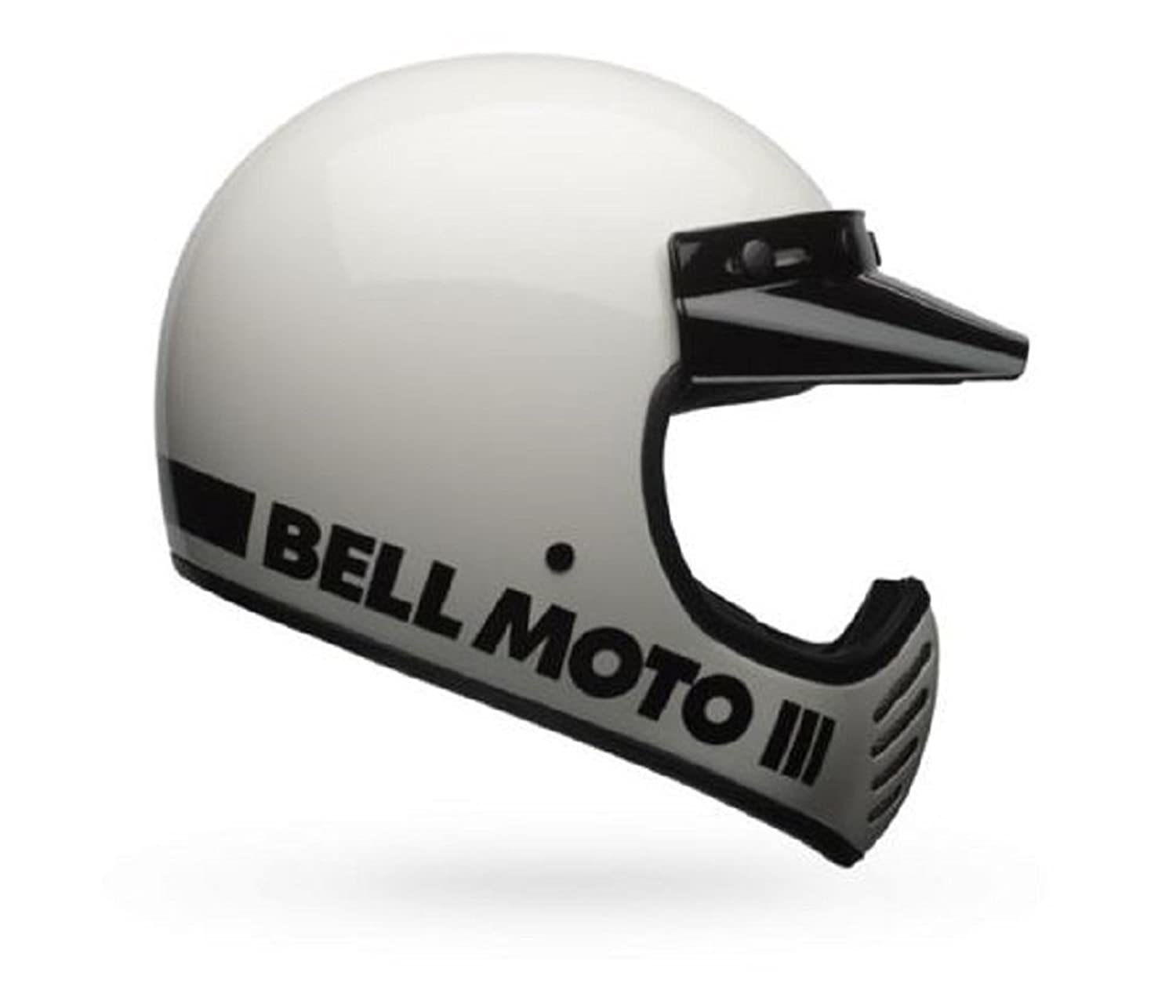 Bell Moto-3 Classic White Open Faced Motorcycle Helmet