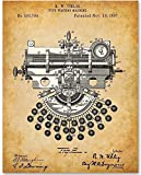 Typewriting Machine - 11x14 Unframed Patent Print - Makes a Great Gift Under $15 for Writers and Journalists