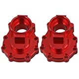 Mxfans Red Aluminum Accessories Rear Inner Portal Drive Housing RC1:10 TRAXXAS TRX-4 Climbing Rock Crawler Car Pack of 2