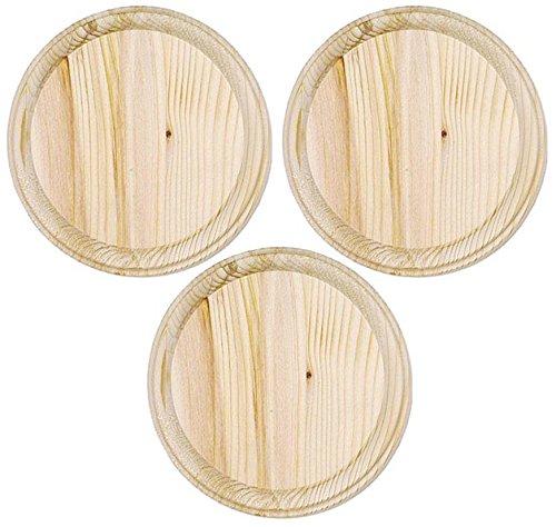 (3-Pack - Darice 9179-65 Wooden Round Plaque,)