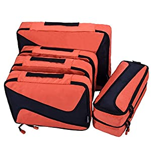 07c8adac3 AOMIDI 6 Set Packing Cubes – 3 Various Sizes Luggage Packing Organizers For  Travel – This is a great set, I love the addiitional medium size as