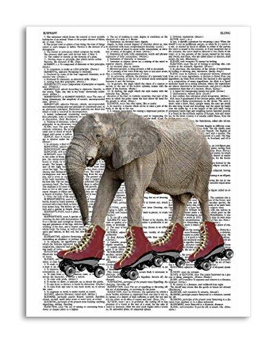 Roller Skating Elephant 8.5