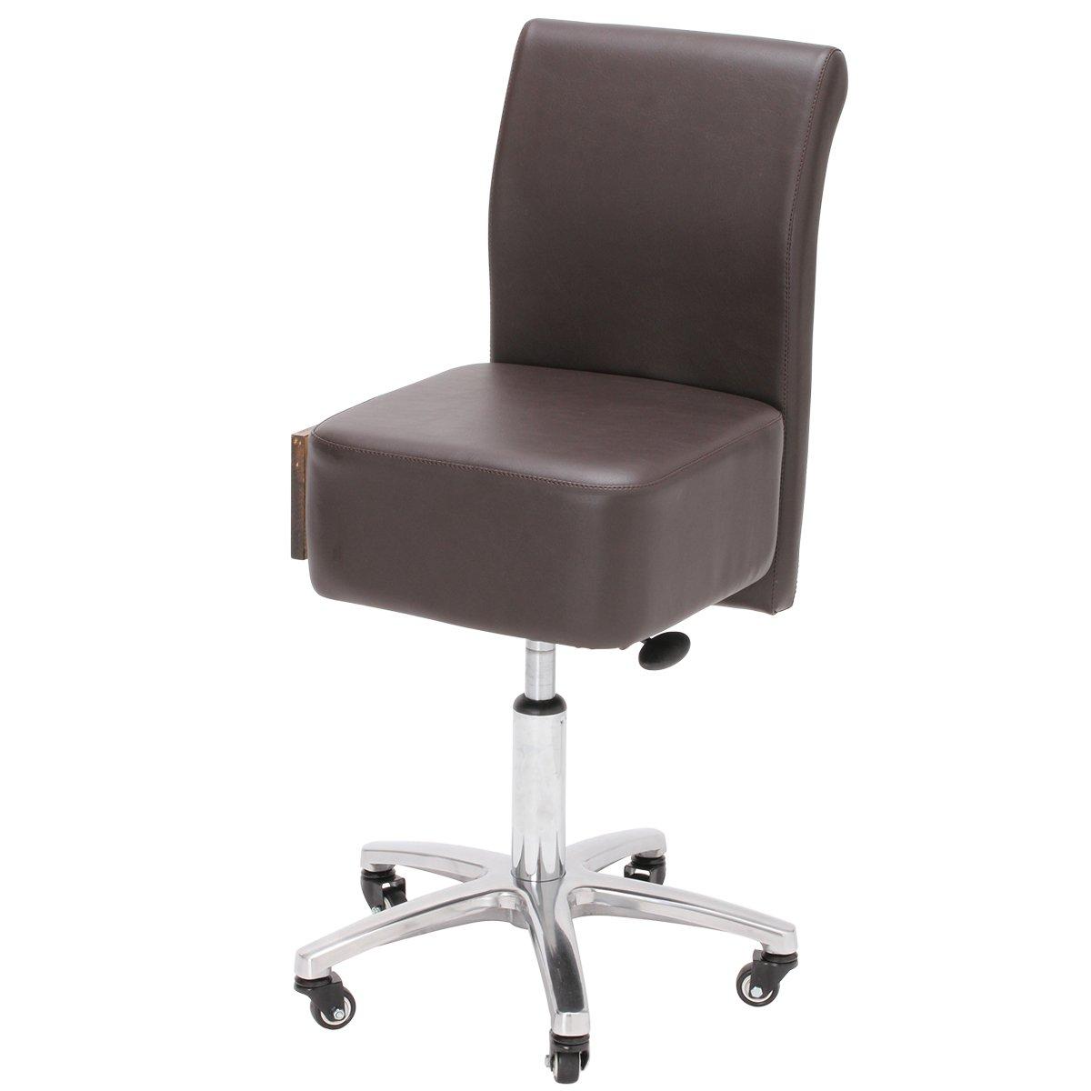 スツール Calm (引き出し付き) ダークブラウン [ 丸椅子 キャスター エステスツール キャスター付き椅子 キャスタースツール 診察椅子 回転椅子 ワーキング ワーク イス 椅子 チェア チェアー 背もたれ付き 昇降式 ] B07D9CJCZQ