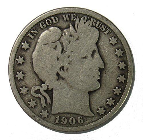 1906 P Silver Barber Half Dollar 50c Very Good ()