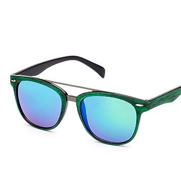 WAQWYQ Gafas Gafas de Sol Mujer Gafas de Sol Espejo Redondo ...