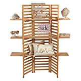 SSWBasics 3-Panel Wood Display with 3 Shelves