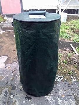 Dark Green Ez4garden Reuseable Heavy Duty Garden Leaf Waste Bag Yard Compost Bin Composting Fruit Kitchen Waste Fermentation Cali Secrets Growers 30L
