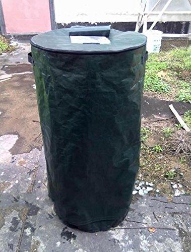Ez4garden Reuseable Heavy Duty Garden Leaf Waste Bag Yard Compost Bin Composting Fruit Kitchen Waste Fermentation Cali Secrets Growers 20L,Dark Green