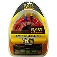 Bass Rockers RS-0: 0 AWG 5000 Watts Complete Amplifier Installation Kit, Real 0 American Wire Gauge 5000W Amp Install Kit