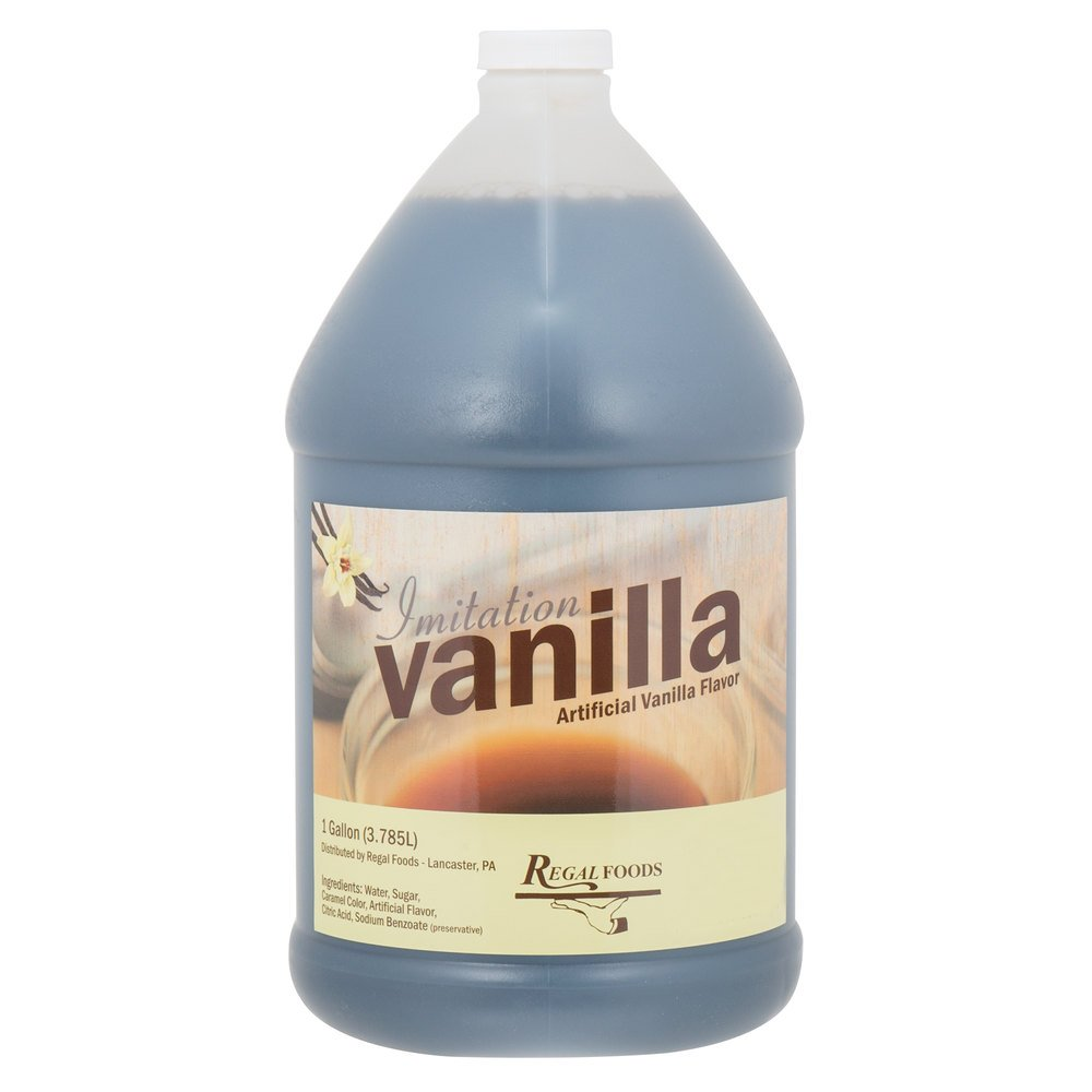 Regal Foods 1 Gallon Imitation Vanilla Pack of 12