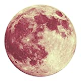 [ 3D ] Large Moon Sticker [ Fluorescent ] Planet Wall Sticker Removable [ Glow in The Dark ] Stickers 40cm (E)