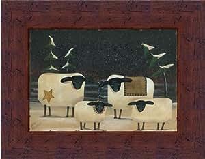 Sheep flock by aleta blackstone primitive folk for Bathroom 9x7