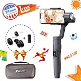 FeiyuTech Vimble 2 Extendable 3-Axis Handheld Stabilizer With Object Tracking, Panarama Shooting, Dynamic Time-Lapse Gamble for iPhone X/iPhone 8/HUAWEI, for taking selfies and living show, Gray