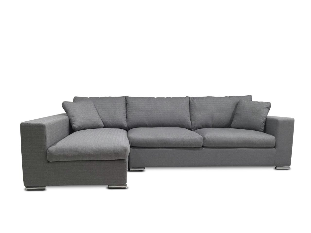 KMP Furniture Coleen Sectional Sofa & Left Chaise Lounge - Gray