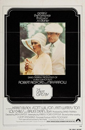 The Great Gatsby Original Movie Poster. 1974