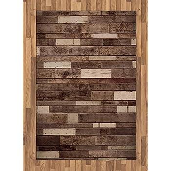 Amazon Com Ambesonne Wooden Area Rug Wall Floor Textured