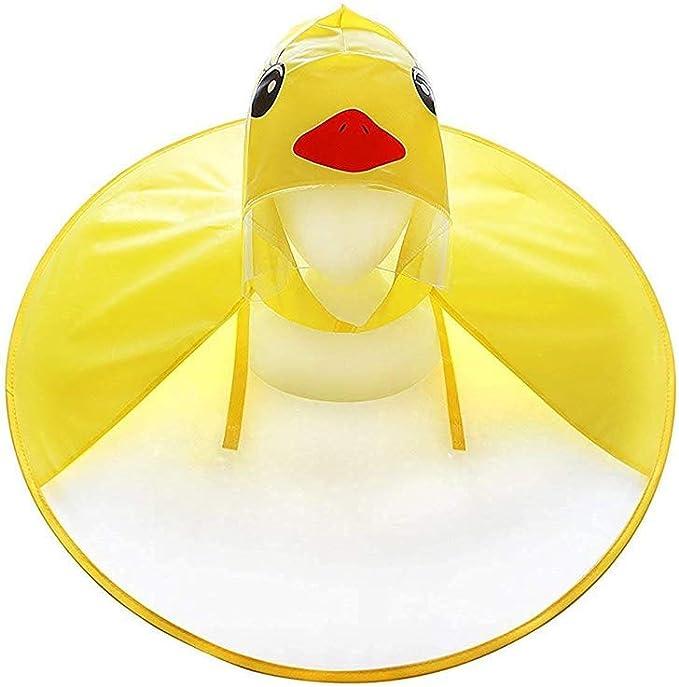 Wesracia Lovely Baby Rain Coat Children Umbrella Hat UFO Little Yellow Duck Raincoat
